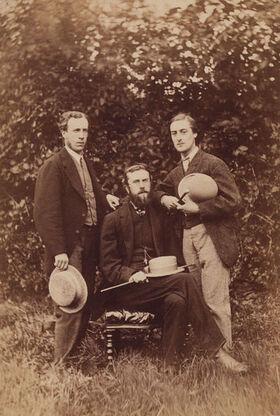 404px-Alfred William Garrett; William Alexander Comyn Macfarlane; Gerard Manley Hopkins by Thomas C. Bayfield
