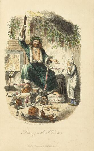 Scrooges third visitor-John Leech,1843