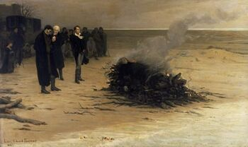 The Funeral of Shelley by Louis Edouard Fournier