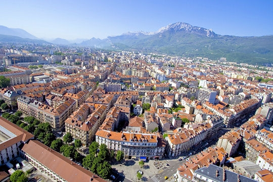 Grenoble city view