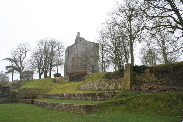 File:Château de Domfront - Domfront - Orne - France - Mérimée PA00110791 (1).jpg