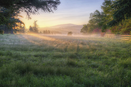 Gorgeous country sunrise in Corbett, Oregon