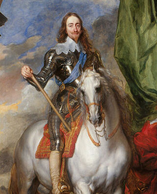 Anthony van Dyck - Charles I (1600-49) with M. de St Antoine - Google Art Project
