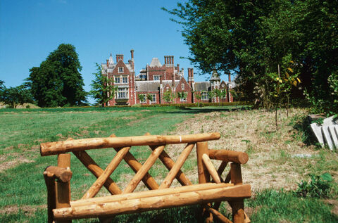 Bench in front of Taplow Court