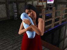 Bella Goth And Baby-1