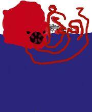Kraken attacking Peppa's Speed boat