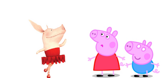 Peppa, Olivia, and Heropig
