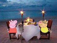 Peppa Pig's candelite dinner