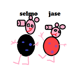 Selmo + jase pig