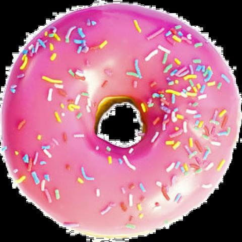 File:Pink frosted sprinkled donut.png