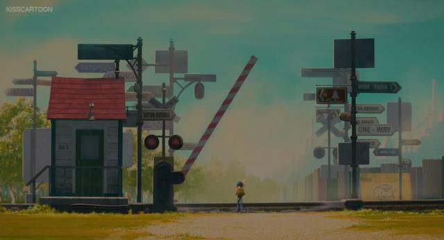 File:Everyone's Hero Railroad Crossing Signal 3B with gate (cartoon movie).png