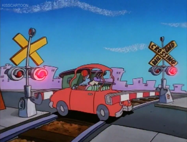 File:Railroad Crossing Cartoon Rocko's Modern Life Driving Mrs Wolfe 04.png