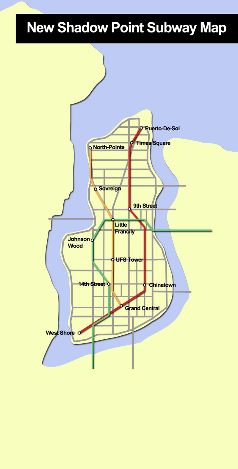 NSP Subway Map