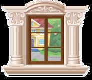 Beige rococo window
