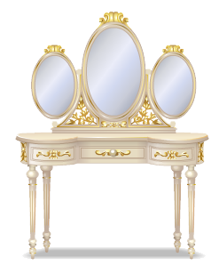 Beige rococo dressing table