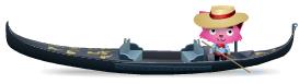 Animated parked gondola