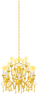 Gold rococo chandelier