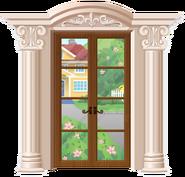 Beige Column Rococo Style Door