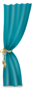 Teal Curtain Right