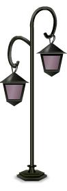 Venetian outdoor cafe street lamp