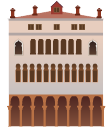 White Venetian Building Decal