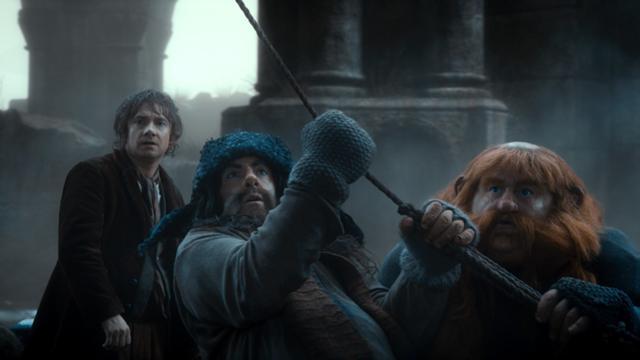 File:Bilbo, Bofur, and Bombur before arriving at Lake-town.jpg