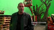 Conan Stevens at set