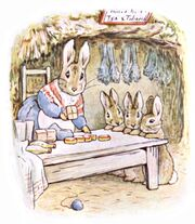 Beatrix Potter, Benjamin Bunny, Mrs Rabbits shop