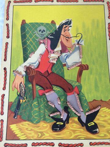 File:Vintage Walt Disney Peter Pan Sewing Cards Game 1952 Captain Hook.jpg