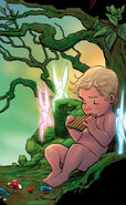 Peter-Pan-Comic-Book-Art-Baby-Peter-Fairies-Moss