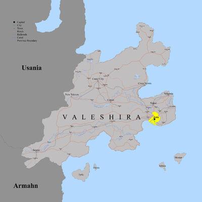 Valeshira Detailed Map