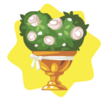 Golden wedding flower pot