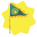 Green Festive Flag