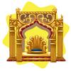 Arabian palace throne