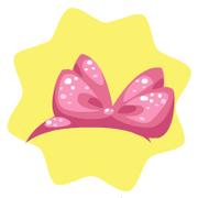 Pink sparkling ribbon