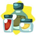 Restaurant Storage Bottles