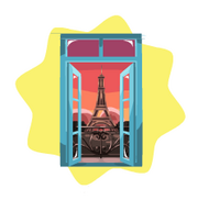 Real Time Eiffel Tower Window