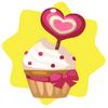 Valentine strawberry cupcake
