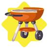 Orange Mini Grill