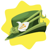 Green lily hat