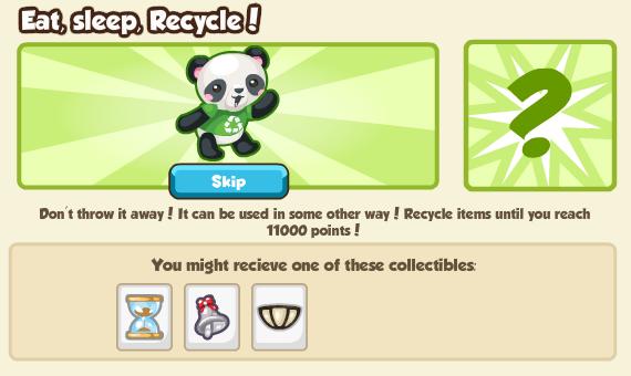 Step 2 - Eat, Sleep, Recycle!