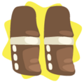 Cute inuit boy boots