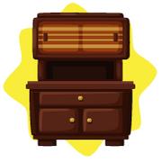Vintage brown small cupboard