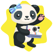 Wwf panda with camera