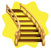 Right vintage brass staircase