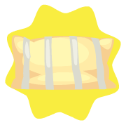 Yellow country pillow