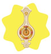White olympus clock