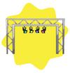 Luminous stage rig