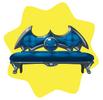 Blue vampire sofa