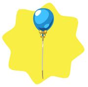 Cute blue balloon